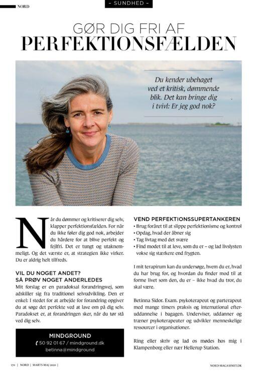 Betinna Sidor perfektionisme artikel NORD 2020